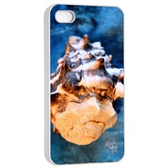 Sea Shell Spiral Apple iPhone 4/4s Seamless Case (White)