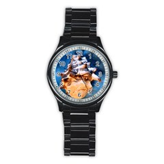 Sea Shell Spiral Stainless Steel Round Watches