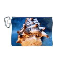 Sea Shell Spiral Canvas Cosmetic Bag (m)