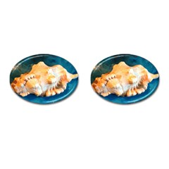 Sea Shell Spiral 2 Cufflinks (Oval)