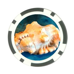 Sea Shell Spiral 2 Poker Chip Card Guards