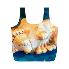 Sea Shell Spiral 2 Full Print Recycle Bags (M)