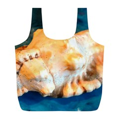Sea Shell Spiral 2 Full Print Recycle Bags (L)