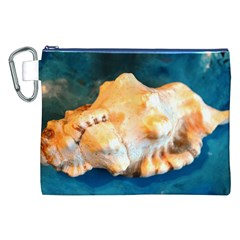 Sea Shell Spiral 2 Canvas Cosmetic Bag (XXL)