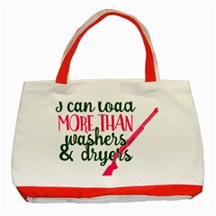 I Can Load More Than Washers And Dryers Classic Tote Bag (Red)