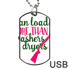 I Can Load More Than Washers And Dryers Dog Tag USB Flash (Two Sides)