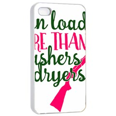 I Can Load More Than Washers And Dryers Apple iPhone 4/4s Seamless Case (White)