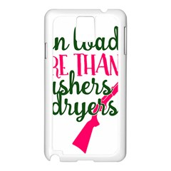I Can Load More Than Washers And Dryers Samsung Galaxy Note 3 N9005 Case (White)