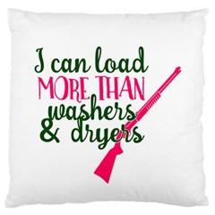 I Can Load More Than Washers And Dryers Standard Flano Cushion Cases (One Side)