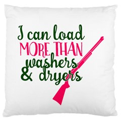 I Can Load More Than Washers And Dryers Large Flano Cushion Cases (Two Sides)