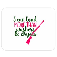 I Can Load More Than Washers And Dryers Double Sided Flano Blanket (Medium)
