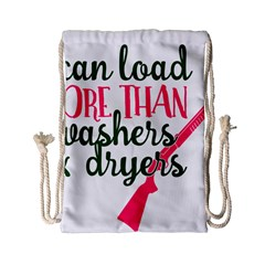 I Can Load More Than Washers And Dryers Drawstring Bag (Small)