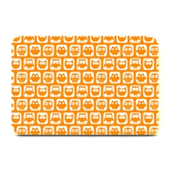 Yellow And White Owl Pattern Plate Mats