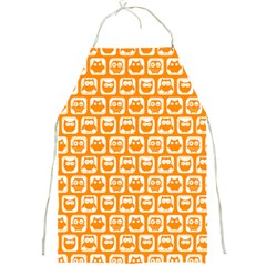 Yellow And White Owl Pattern Full Print Aprons