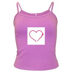 Customizable Shotgun Heart Dark Spaghetti Tanks