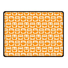 Yellow And White Owl Pattern Fleece Blanket (Small)