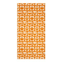 Yellow And White Owl Pattern Shower Curtain 36  x 72  (Stall)