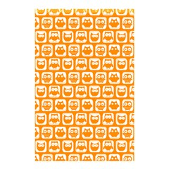 Yellow And White Owl Pattern Shower Curtain 48  x 72  (Small)