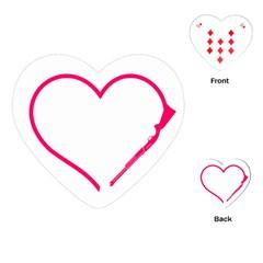 Customizable Shotgun Heart Playing Cards (Heart)