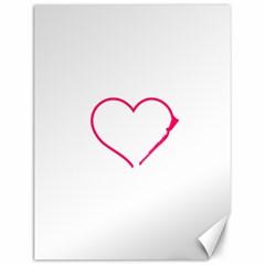 Customizable Shotgun Heart Canvas 12  X 16