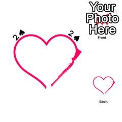 Customizable Shotgun Heart Playing Cards 54 (heart)