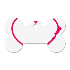 Customizable Shotgun Heart Dog Tag Bone (One Side)