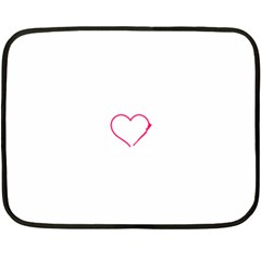 Customizable Shotgun Heart Double Sided Fleece Blanket (Mini)