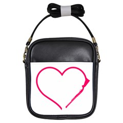 Customizable Shotgun Heart Girls Sling Bags