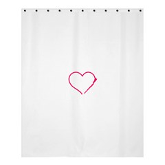 Customizable Shotgun Heart Shower Curtain 60  x 72  (Medium)