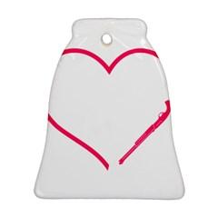 Customizable Shotgun Heart Bell Ornament (2 Sides)
