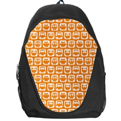 Yellow And White Owl Pattern Backpack Bag