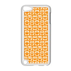 Yellow And White Owl Pattern Apple iPod Touch 5 Case (White)