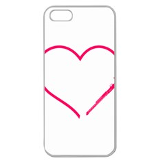 Customizable Shotgun Heart Apple Seamless iPhone 5 Case (Clear)