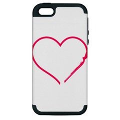 Customizable Shotgun Heart Apple iPhone 5 Hardshell Case (PC+Silicone)