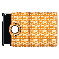 Yellow And White Owl Pattern Apple iPad 2 Flip 360 Case