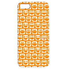 Yellow And White Owl Pattern Apple iPhone 5 Hardshell Case with Stand