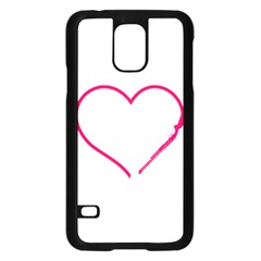 Customizable Shotgun Heart Samsung Galaxy S5 Case (Black)