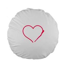 Customizable Shotgun Heart Standard 15  Premium Flano Round Cushions