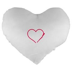 Customizable Shotgun Heart Large 19  Premium Flano Heart Shape Cushions