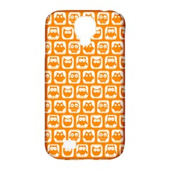 Yellow And White Owl Pattern Samsung Galaxy S4 Classic Hardshell Case (pc+silicone)