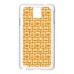 Yellow And White Owl Pattern Samsung Galaxy Note 3 N9005 Case (White)