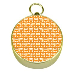 Yellow And White Owl Pattern Gold Compasses