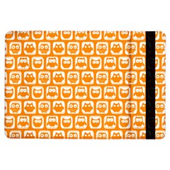 Yellow And White Owl Pattern iPad Air Flip
