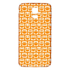 Yellow And White Owl Pattern Samsung Galaxy S5 Back Case (White)