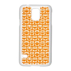 Yellow And White Owl Pattern Samsung Galaxy S5 Case (White)