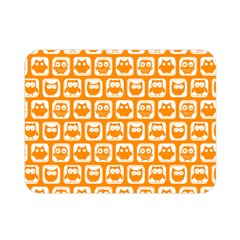 Yellow And White Owl Pattern Double Sided Flano Blanket (Mini)