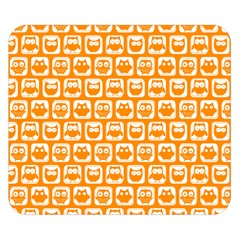 Yellow And White Owl Pattern Double Sided Flano Blanket (Small)