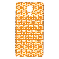 Yellow And White Owl Pattern Galaxy Note 4 Back Case