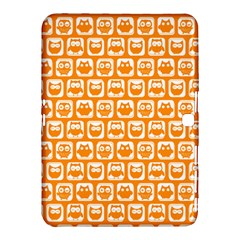 Yellow And White Owl Pattern Samsung Galaxy Tab 4 (10.1 ) Hardshell Case