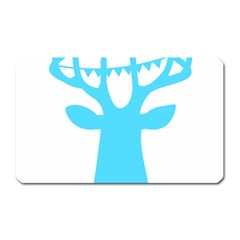 Party Deer With Bunting Magnet (rectangular)